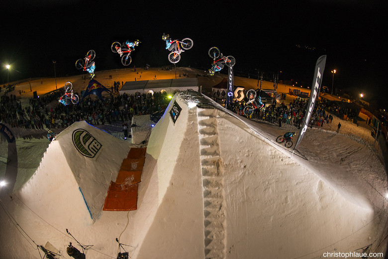 Double backflip by Antoine Bizet. Photo by Chris Laue