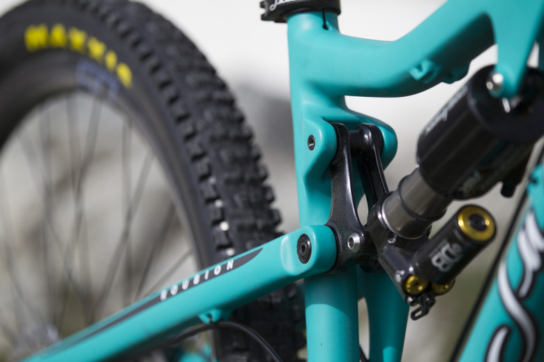 The Roubion is available with an optional Cane Creek DBAir CS upgrade - photo Gary Perkin.
