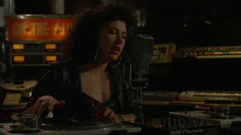 DJ Miss Erica Dee on the turntables.