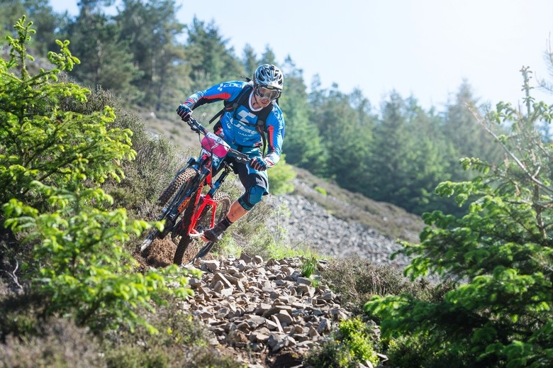 Battle-proven already. Nico Lau rode the Procore to victory at the Tweedlove EWS round.