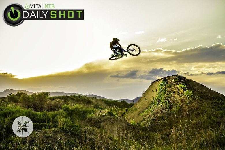 Getting after it in the golden hour.
