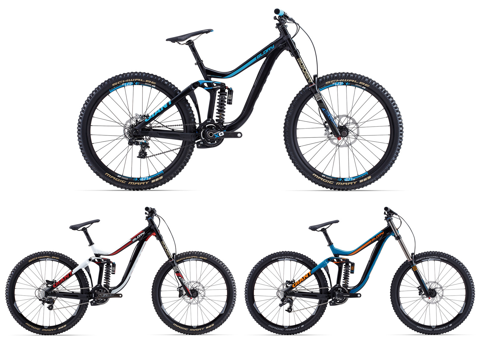 Giant will sell two of three Glory 27.5 models in the USA - the decked out  Glory 27.5 0 at $6,600 and Glory 27.5 2 with a budget build at $3,000.