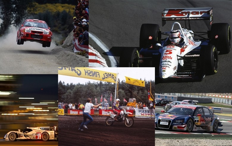 Incredible amount of famous racers in THIS hall of fame - photos courtesy of Öhlins.