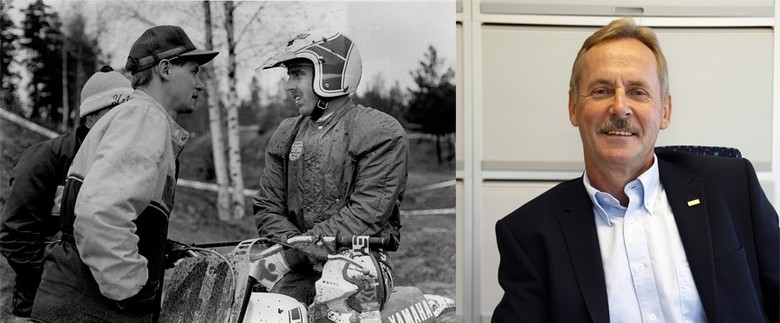 Then and now - Kenth Öhlin with Carlqvist in 1976, and in 2007 after repurchasing his company from Yamaha.