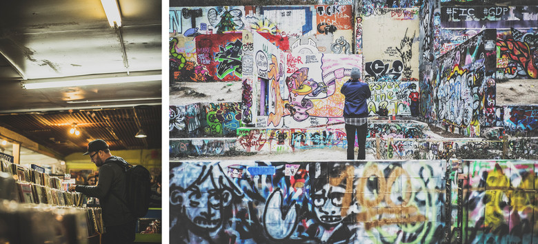 """It's an eclectic mix here; we hunted for treasure on SoCo, listened to the """"next big thing"""" just down the street, and watched a local artist spray freely at the Graffiti Park."""
