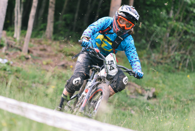 Lilla on her way to second victory in a row on Cerkno trails