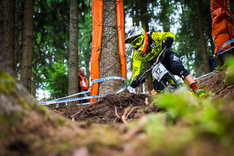 """Remi Thirion in Leogang 2015 - he'll be a hot favorite at his """"home race"""" in Andorra in 2016. photo Johan Hjord"""