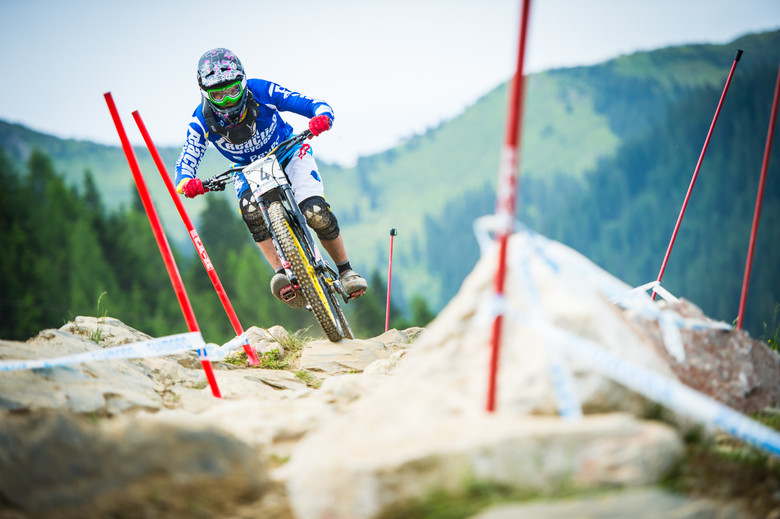Getting stuck into practice in Leogang.