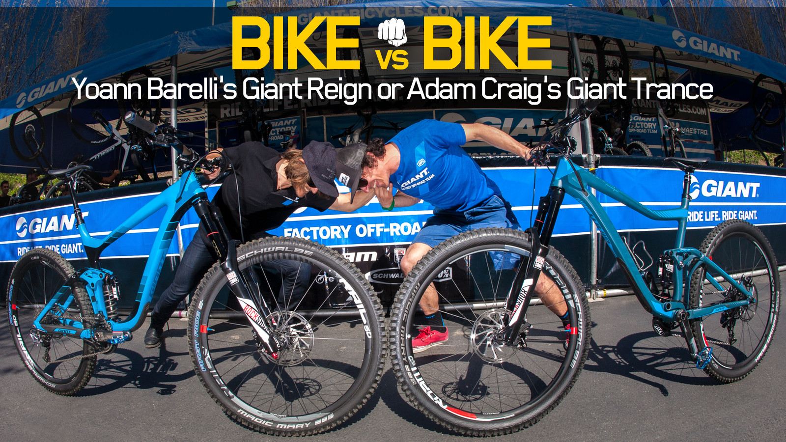 68501f0f8c7 Bike vs. Bike - Yoann Barelli's Giant Reign or Adam Craig's Giant ...