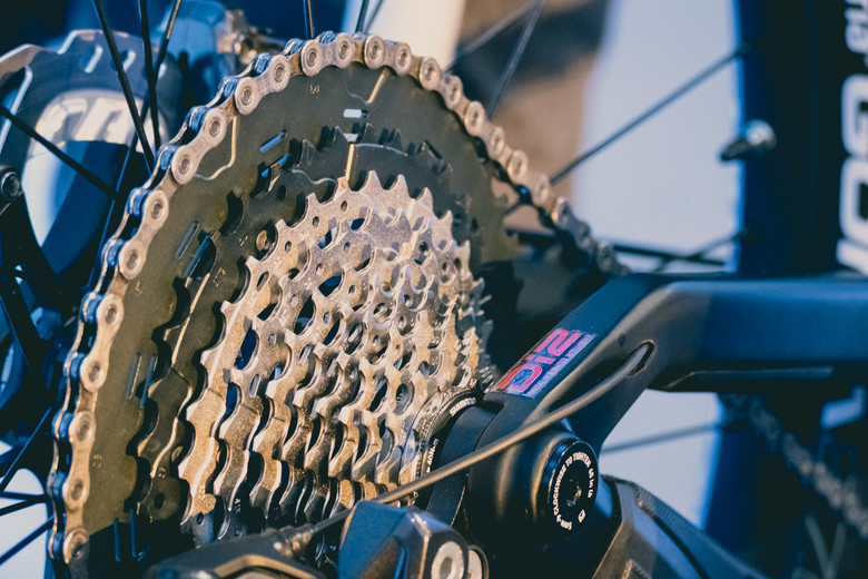 It's no 50-tooth, but that's still a biggg cassette! Details were scarce on the 11-46 tooth cassette, but know that it's coming soon, will work with a standard hub body, and gives you 418% range. The last jump is from 37 to 46 teeth.