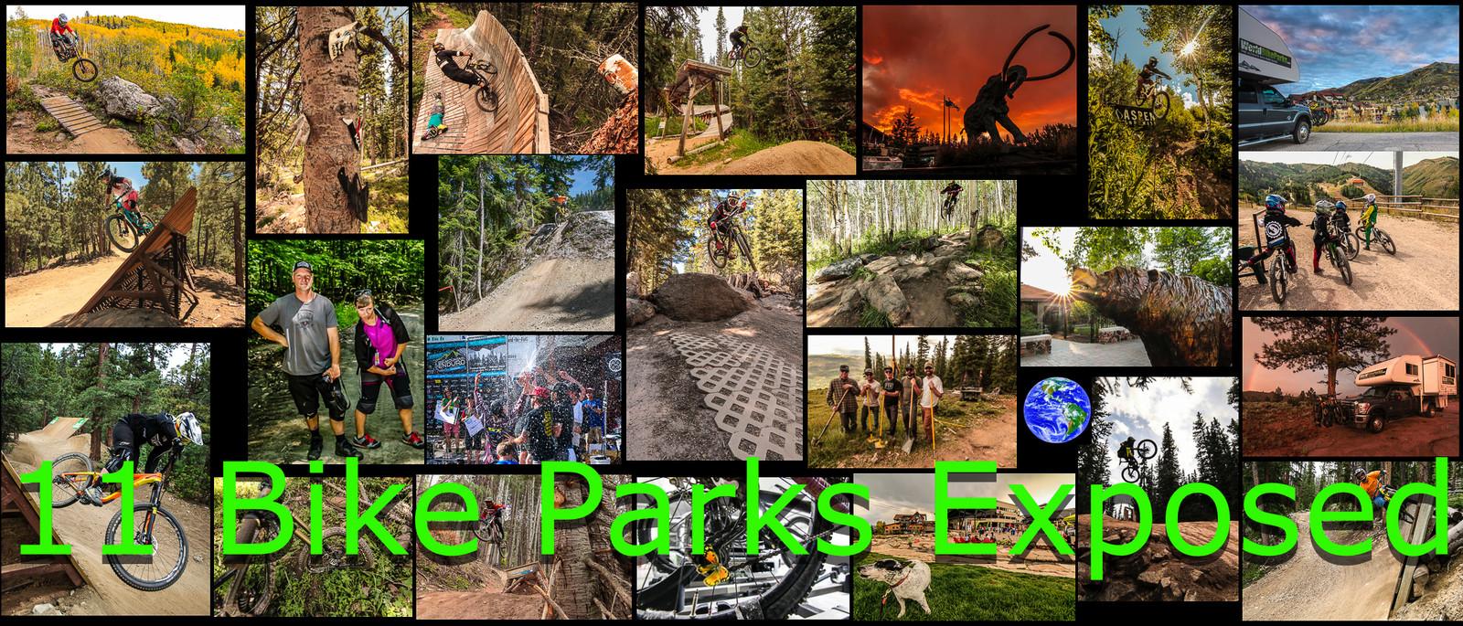 2015 Summer Bike Park Tour Photo Collage