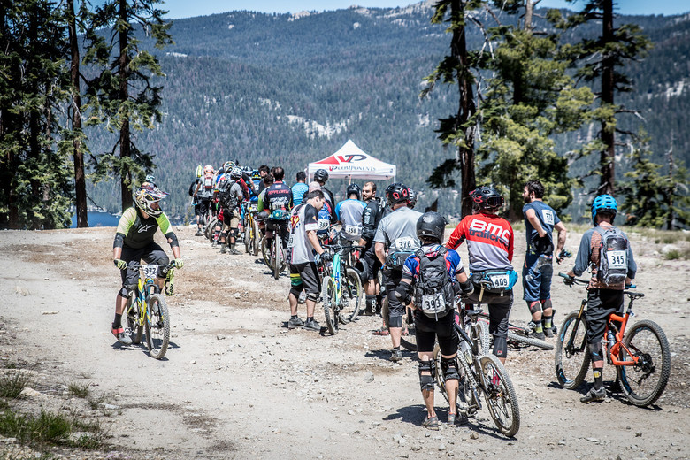 Despite a few lines, waits were short and everyone had plenty of time to finish the race. Photo: Called to Creation