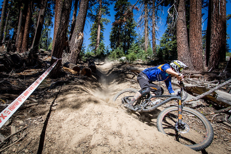 Cory Sullivan was looking smooth on the berms and finished ninth in Pro Men. Photo: Called to Creation