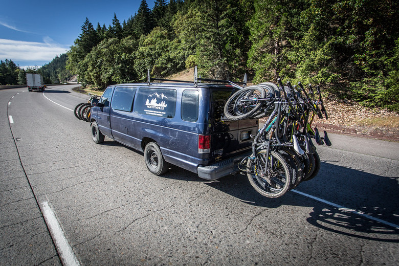 Shuttles up to the top of Mount Ashland were booked well in advance for practice Friday.