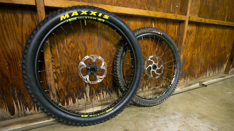 29 x 3 Maxxis Minion DHF vs. 26 x 2.3 Specialized Butcher.