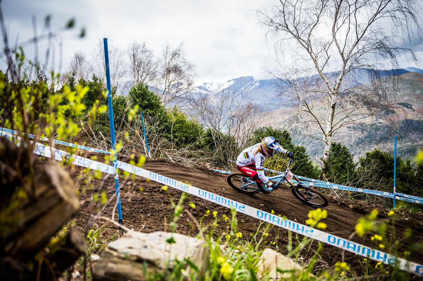 Rachel Atherton at the 2016 World Cup race in Lourdes, France. Photo Johan Hjord