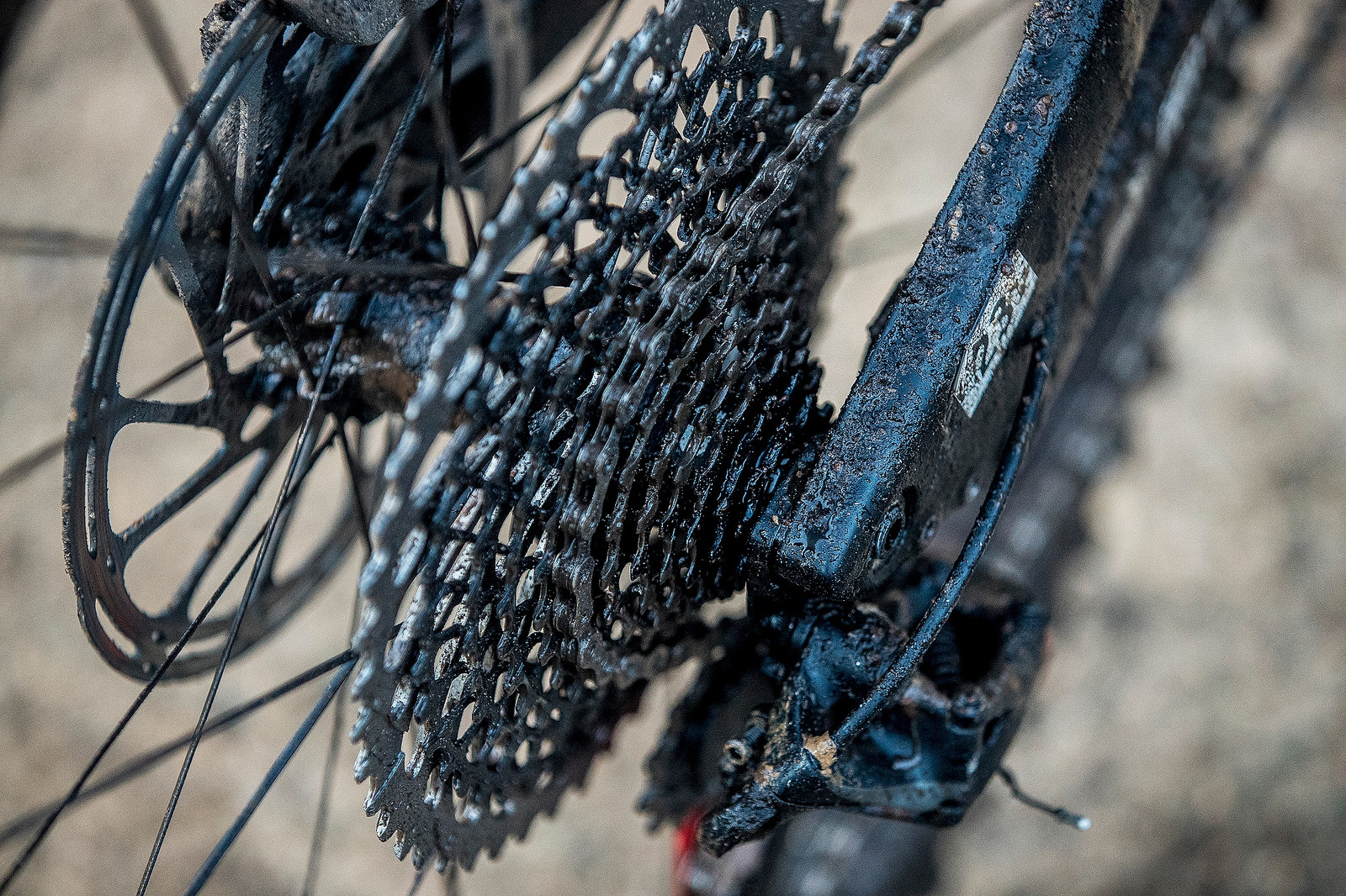 SRAM Eagle 10-50t cassette, you can never have enough help on the uphills when you've got 57 kms and 1700 meters of climbing to bang out in one day.