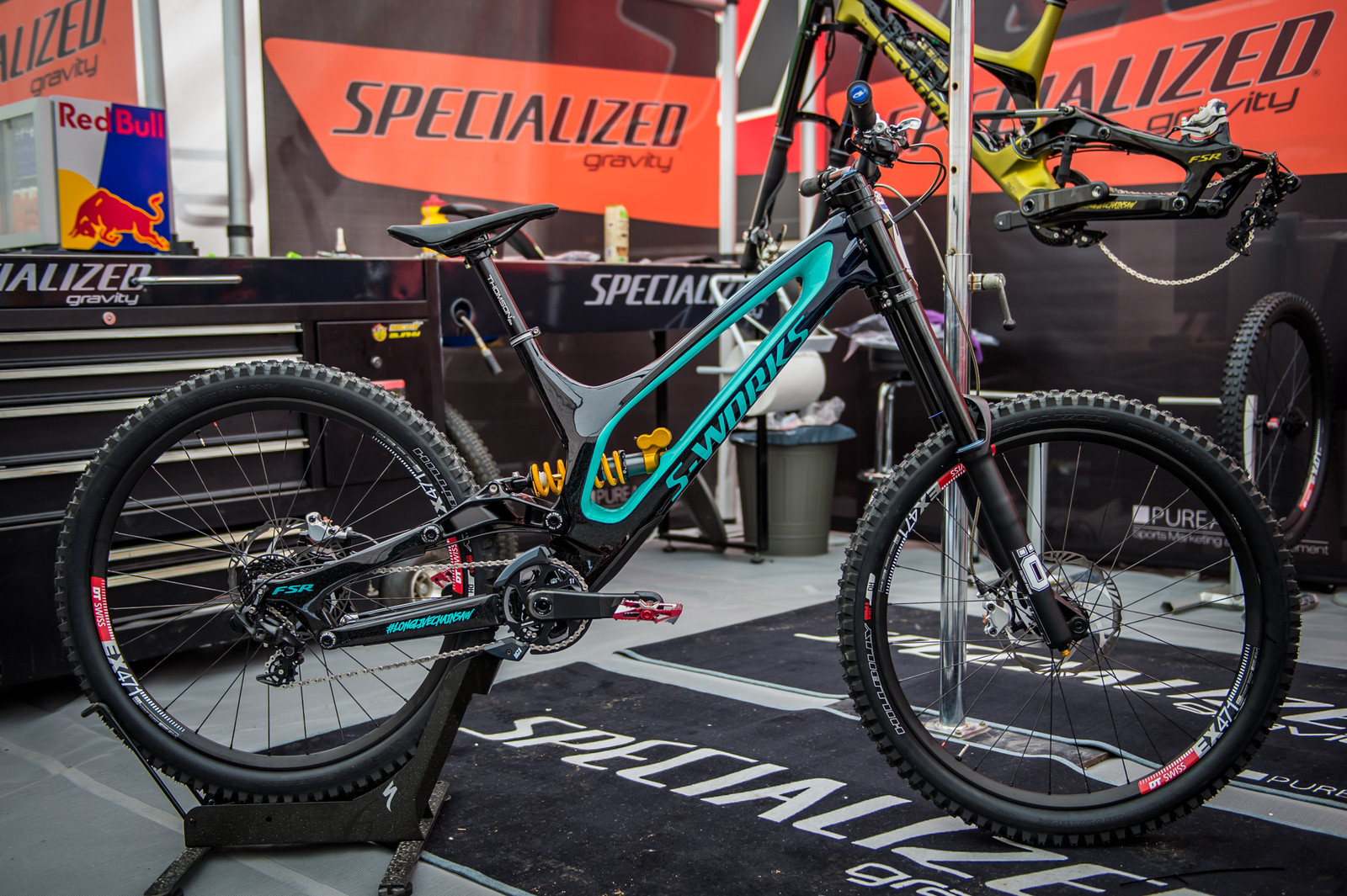 Specialized have hooked their team riders up with rad new paintjobs, and the mechanics spare no effort to make sure they're dialed. It's all in the details...