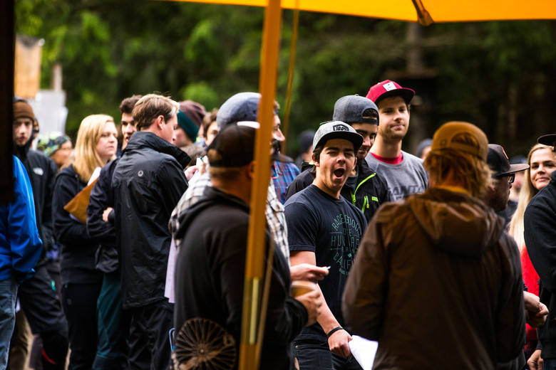 It was an early start for Elite and Cat 1 riders.  Registration opened at 8am and practice started at 9am, but the wait was easily an hour for the Pre-Reg line, so most riders were feeling like Steve Walton here...