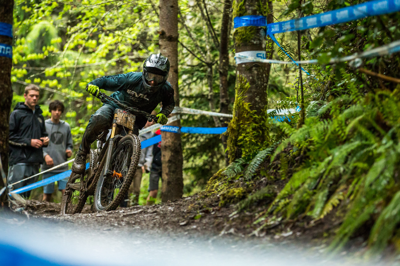 #1 seed in Elite Men, Luke Strobel was not mucking about in the mud today. #29er