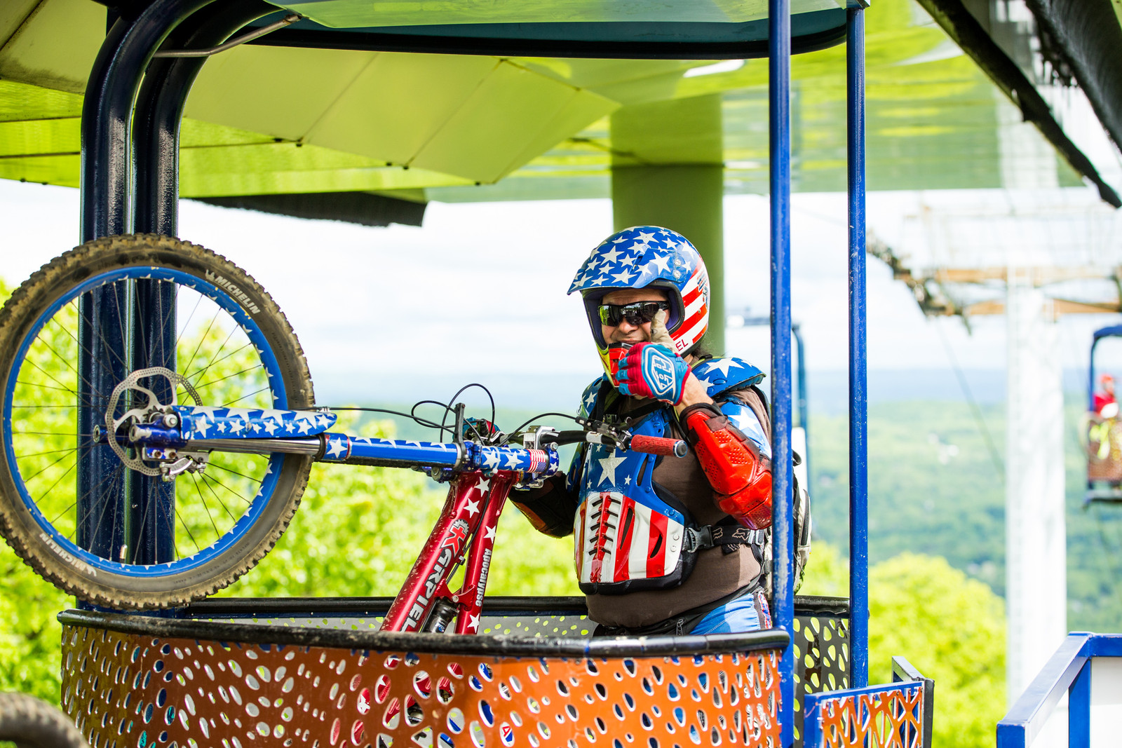 This guy is a Mountain Creek legend. Hit play on the audio to meet the star spangled hucker.