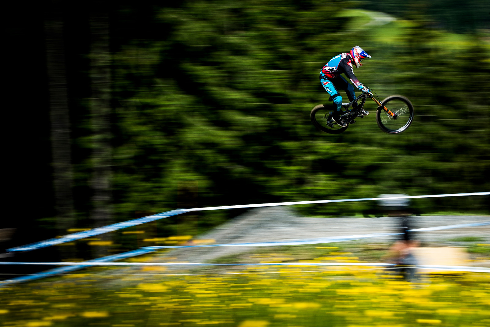 Aaron Gwin smashes the field at Leogang once again.