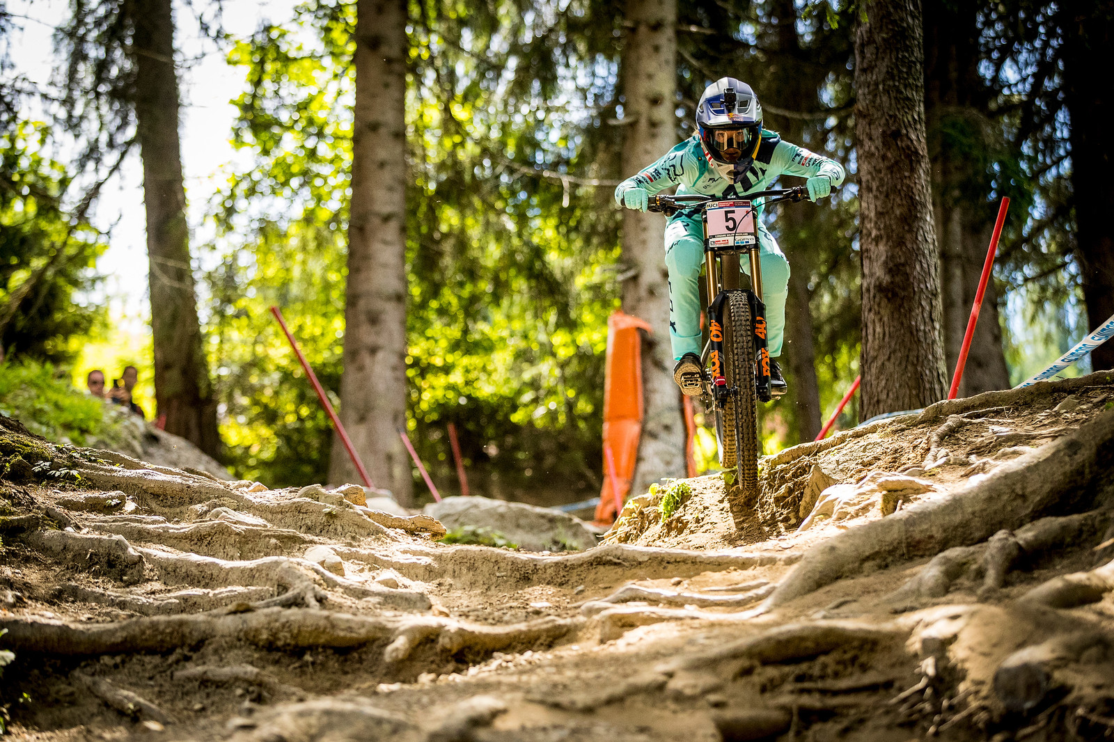 Tahnee Seagrave takes her first World Cup DH win.