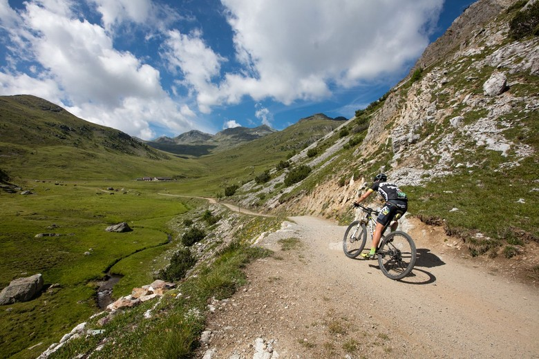 Riding through the Stelvio National Park