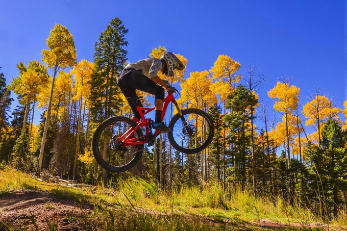 Fall riding at Angel Fire Bike Park