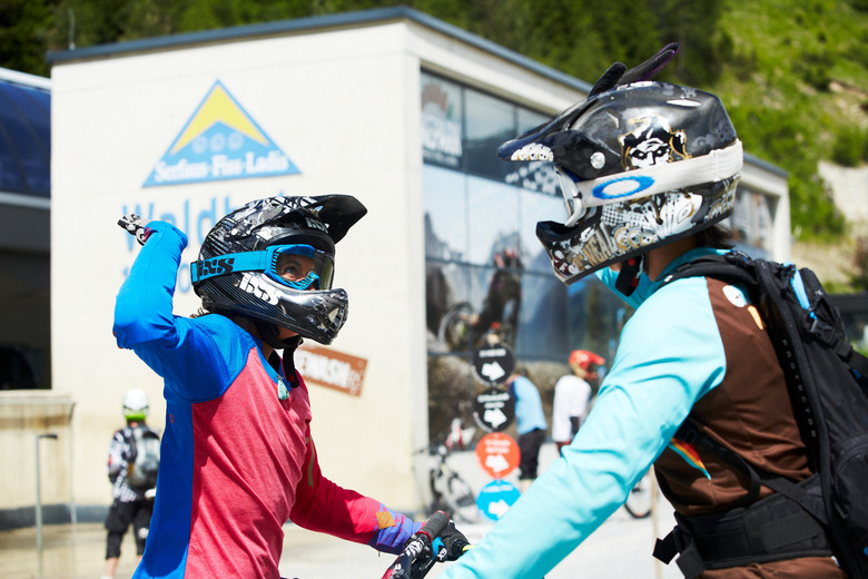 Plenty of high fives when you hit the trails with Alice Kühne.