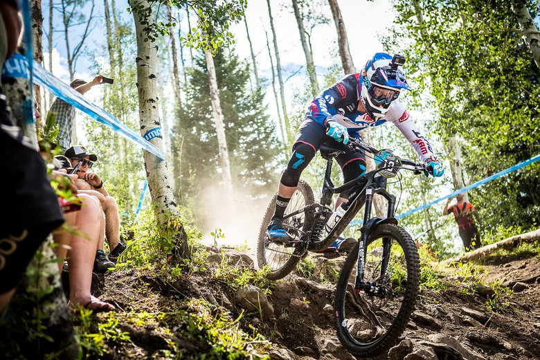 Josh Carlson finishing strong to build momentum for Enduro World Series Whistler, where he landed his first EWS podium in 2016.