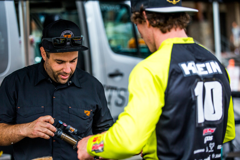 Matt Maienza is a new face for many, but that's only because he spends the whole day in the Fox van fixing the pieces the riders destroy.