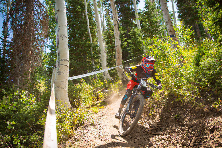 Angelica Ramirez races the Pro Division in Round 4 of the 2017 SCOTT Enduro Cup presented by Vittoria in Park City, Utah on Sunday August 27th. Photographer: Noah Wetzel, curtesy of Enduro Cup