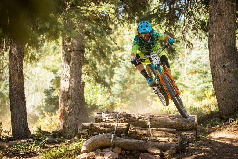 Cody Kelley races the pro discipline on stage six of the SCOTT Enduro Cup presented by Vittoria at Deer Valley Resort in Park City, UT on August 27, 2017. (Photo: Sean Ryan, courtesy Enduro Cup)