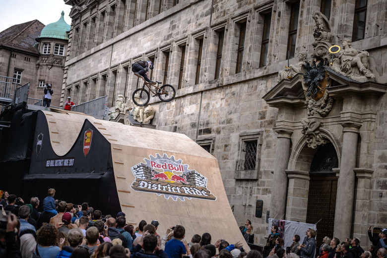 Emil Johansson of the Sweden performs during the finals of the Red Bull District Ride 2017 in Nuremberg, Germany on September 2nd, 2017