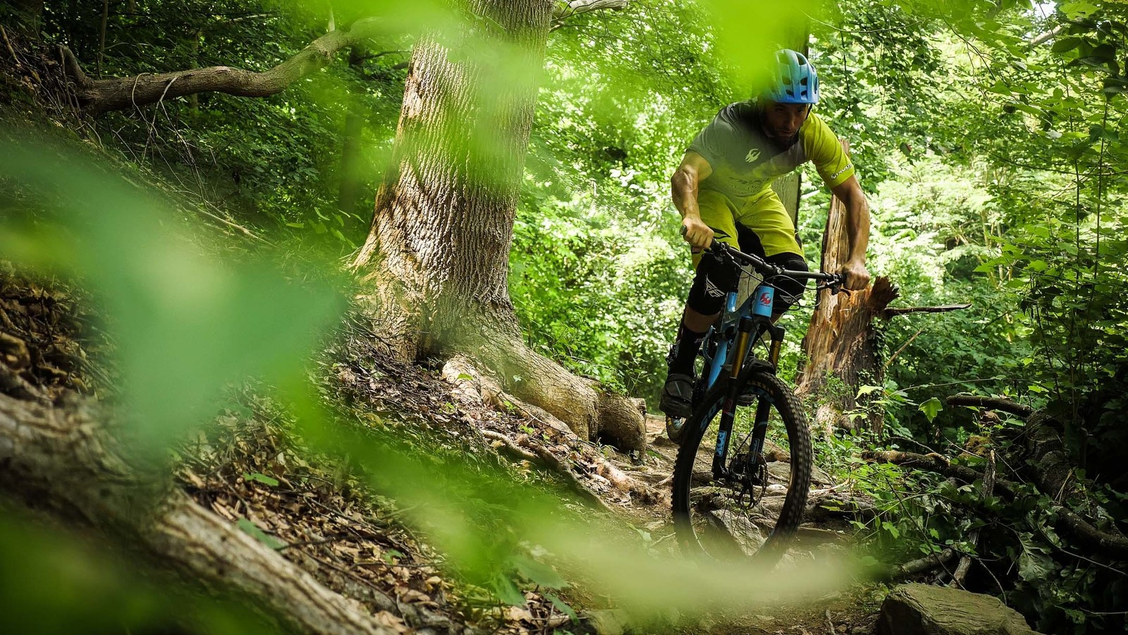 """""""I'm hard on bikes and trails, and that can often mean that tires pay the price. I don't have to worry about that with the DHF's."""" - Brice"""