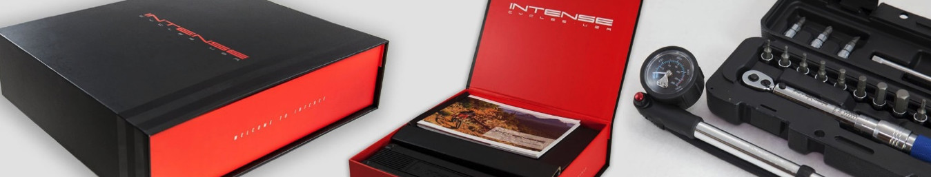 Each complete Intense comes with a tool kit and instruction manual for servicing needs.
