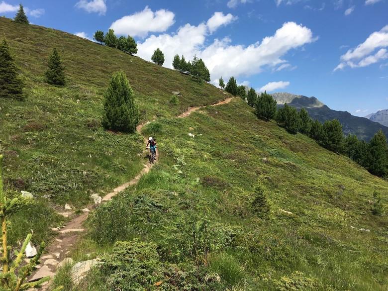 Katrin riding in Sölden