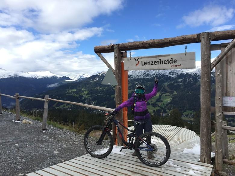 Theresa in Lenzerheide Bikepark
