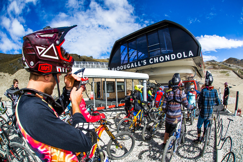 The day kicked off with riders gathering at the Chondola to get up the hill.