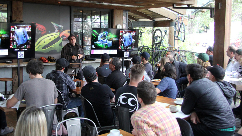 Dave Ahumada during the presentation at Pedaler's Fork.