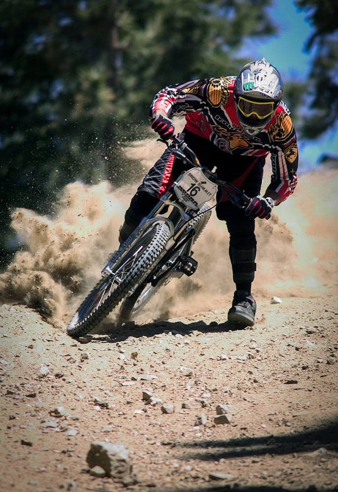 Big Bear berm blasting, 2004 - this was the year of the DH Mania 4-rider race.