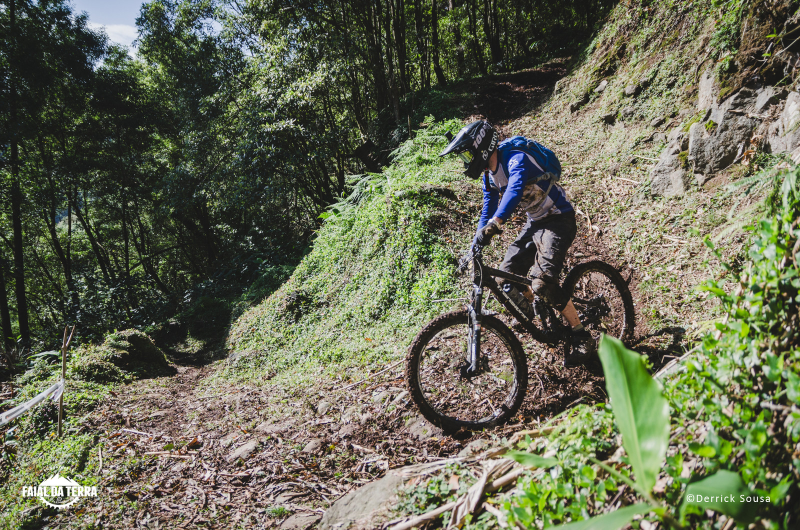 @Guy Bunting from the UK falling in love with the trails in the island