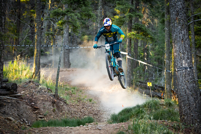 Richie Rude races stage 5 in the Pro/Open division at Round 2 of the 2018 SCOTT Enduro Cup presented by Vittoria in Angel Fire, NM on June 10, 2018. Photographer: Sean Ryan, courtesy EnduroCupMTB