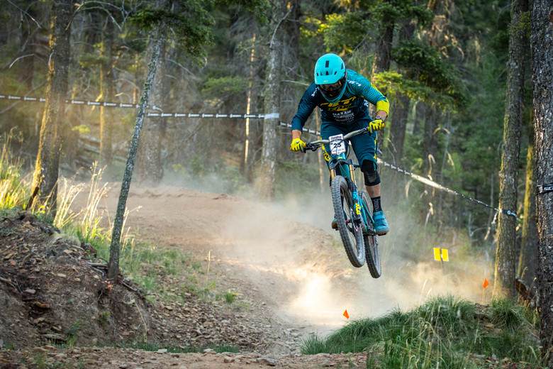 Shawn Neer races stage 5 in the Pro/Open division at Round 2 of the 2018 SCOTT Enduro Cup presented by Vittoria in Angel Fire, NM on June 10, 2018. Photographer: Sean Ryan, courtesy EnduroCupMTB