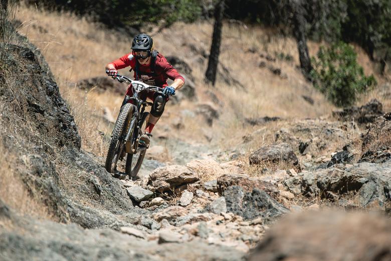 Third-year enduro racer — and CES ambassador — Matt Guntert took his very first Pro Men first place win at the Mammoth Bar Enduro.