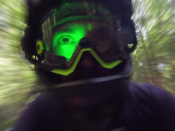 EyeCo used as a training assistant, crushing some laps in Santa Cruz forest!