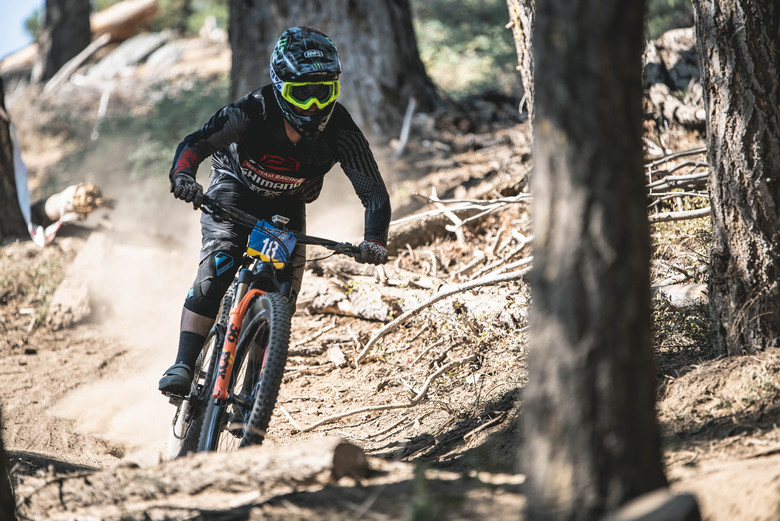 Pro Men champ Cole Picchiottino looking fierce on Stage 5. Zoom in on those eyes behind the dark lenses!