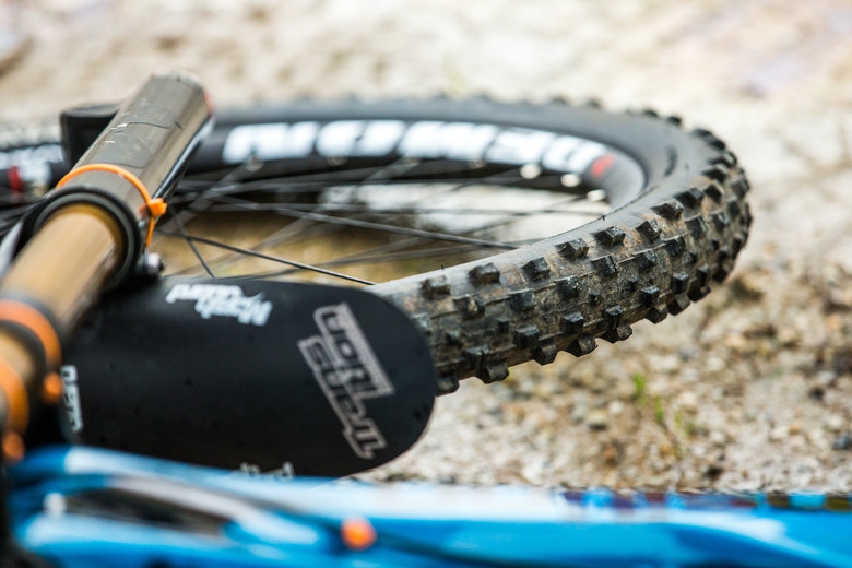Spikes were the call for many riders today, though anyone on a 29er was left wishing for them.