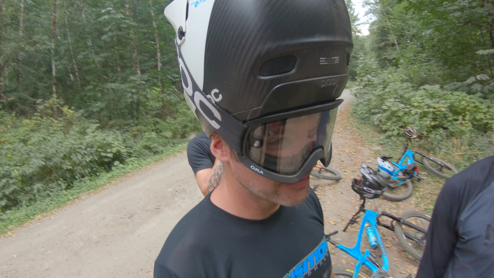 Transition owner Kyle working on some new helmet tech.
